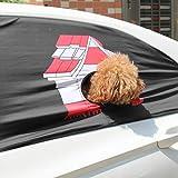 Qiuxiaoaa 1 Stück Hund Auto Fenster Sun Auto Schutzzaun Schatten Faltbare Visier Abdeckung Mit Loch Aushängen Reise Fenster Abdeckung Häuser Test