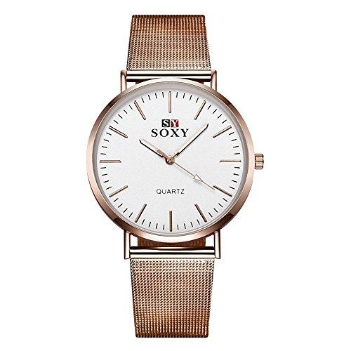 femme-quartz-montre-affaires-mode-loisir-grille-metal-m0455