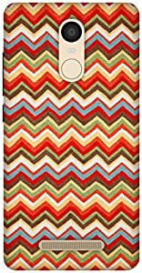 The Racoon Lean Summer Chevrons hard plastic printed back case / cover for Xiaomi Redmi Note 3