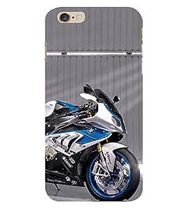 Expensive Blue Bike 3D Hard Polycarbonate Designer Back Case Cover for Apple iPhone 6 Plus