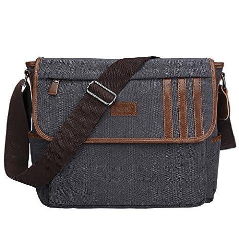S-ZONE Lightweight Canvas Messenger Bag Travel Shoulder
