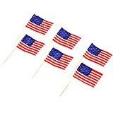 50 pcs Banderas de Amaricana en Miniatura Decoración de Postre Cóctel