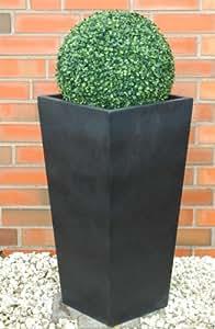 Pot de fleurs/pot de fleurs/Jardinière 70cm en fibre de verre classique anthracite