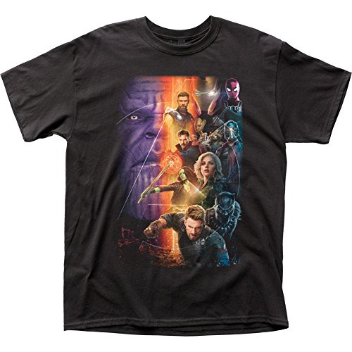 Impact Marvel comic avengers unendlichkeit krieg filmplakat helden T-shirt für Herren X-Groß Schwarz