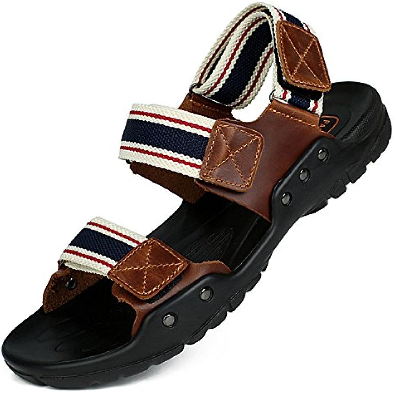 l'été des hommes jeunes hommes sandales en en en cuir chaussures sandales b072vnft9q respirants parents étudiants chauss ure s de plage 71d7b9