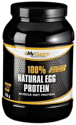 My Supps 100% Natural Egg Protein, 1er Pack (1 x 0.75 kg)