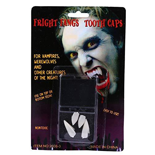 GSYClbf 2/4 Stück einzigartige Kreativität Exquisite Mode Halloween Vampir Zombie Fangs Fake Blut Zahnkappen, Kostüm-Party Requisiten, 1, 2
