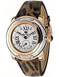Glam Rock summerTime Damen-Armbanduhr 40mm Armband Leder Braun Schweizer Quarz Zifferblatt Silber GR40062