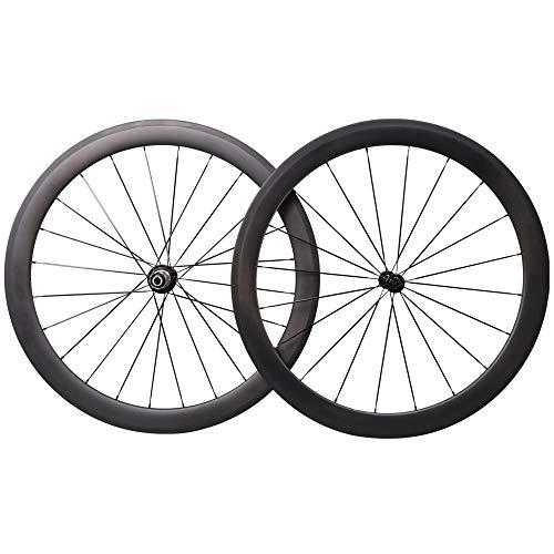 YGZXC Ruote Bici da Corsa Set Fibra di Carbonio 700C 38mm 50mm 60mm 88mm Ibrido Power Racing Set Ruote Bici da Strada copertoncino 23mm Larghezza Shimano 8/9/10 / 11S,50mm