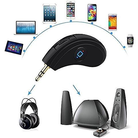 willful Bluetooth Receiver- portátil inalámbrico adaptador de Audio HiFi Streaming de música receptor con 3,5 mm estéreo conector Jack enchufe para altavoces, auriculares, de audio para sistema de sonido/Bluetooth kits de