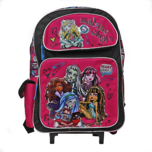 Large Rolling Sac à dos–Monster High–Scary...