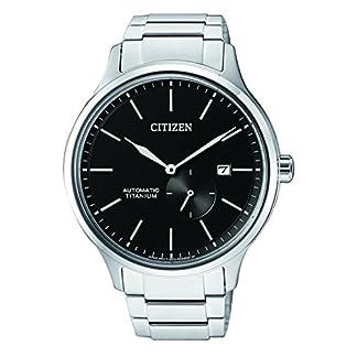 Citizen Reloj Analogico para Hombre de Mecánico con Correa en Titanio NJ0090-81E