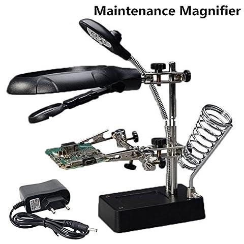 Circuit Maintenance Lupe 5 Lde Candlestick-Typ Hand-Assistent Clamp Werkzeug Arbeitstisch Halterung Typ Multifunktional