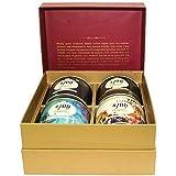 4700BC Popcorn: Festive Gift Box, 4 Tins, 1 Cheese Popcorn, 1 Caramel Popcorn and 2 Chocolate Popcorn