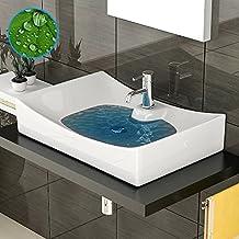 Diseño Lavabo Sin Rebosadero––Lavabo con Nano–Cerámica Platillos Lotus Efecto–Lavabo–Baño Muebles