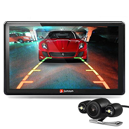 GPS para Coche - Junsun 7 Pulgadas Pantalla Táctil Navegador GPS para Camión con Bluetooth FM 8GB/256MB Actualización Gratis de Mapa de Europa Toda la Vida