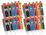 20 Druckerpatronen mit Chip und Füllstandsanzeige kompatibel zu Canon PGI-550 / CLI-551 (4x Schwarz breit, 2x Schwarz schmal, 4x Cyan, 4x Magenta, 4x Gelb, 2x Grau) Passend für Canon Pixma IP-8700 IP-8750 MG-6300 MG-6350 MG-7100 MG-7150 MG-7500 MG-7550