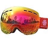 Gafas de Nieve - Sin Marco Cambiante, Snowledge de Doble Lente Esférica, Contra Arañazos y Anti - Niebla, Para Hombres y Mujeres Gafas de Esquí - 100% Contra UV
