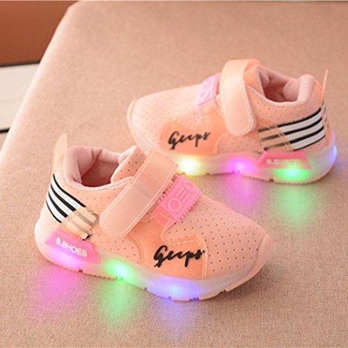 LED Lumineux Sneakers Respirant Antidérapant, QinM Lacets Autobloquants Enfant Sport Exécution Bébé Garçons Filles Chaussures Halloween Noël
