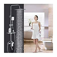 ZQDL 3-In-1 Shower Set, Fine Copper Faucet, In-Wall Installation, Multi-Layer Plating, One-Button Three-Control, Liftable Shower Rod