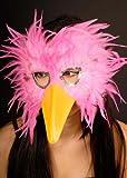 Máscara de Ojo de pájaro Flamenco Polipiel Rosa Caliente