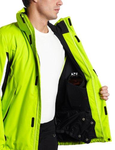 Spyder Men 's Sentinel Jacket Sharp Lime/Black/White