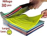 Nifogo Closet Organizer Kleidung Organisation System für Hemden oder Unterlagen in herkömmlicher...