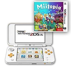 New Nintendo 2DS XL (Weiß & Orange) + Miitopia
