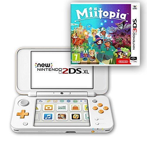 New Nintendo 2DS XL (Weiß & Orange) + Miitopia