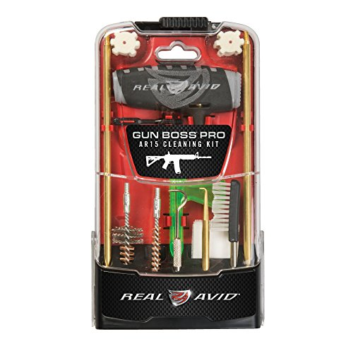 RealAvid Unisex-Adult Gun Boss Pro AR15 Cleaning Kit, Clear red, no Size