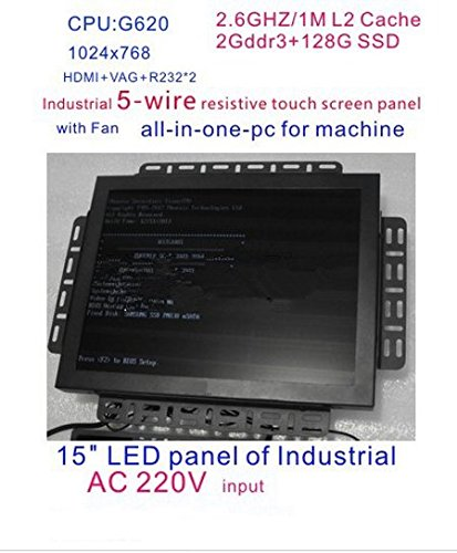 Gowe All in One Touch Bildschirm PC 38,1cm LED Touch Hohe Temperatur 5Draht resistiver Touch Bildschirm Standard mit 4G RAM 256g SSD
