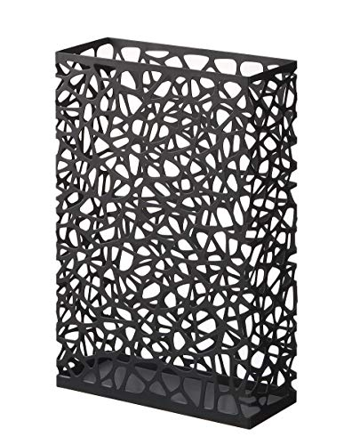 Yamazaki - portaombrelli in acciaio, misura l, colore: nero
