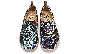 UIN Damen Segelschuhe Schmetterling Gedrukt Slip On Multicolore