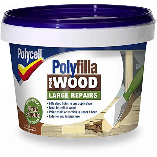 Polycell 5207194 Polyfilla 2 Part Wood Filler, 750 g, Natural