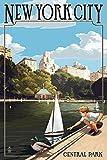 Ciudad de Nueva York, Nueva York-Central Park, papel, multicolor, 12 x 18 Art Print