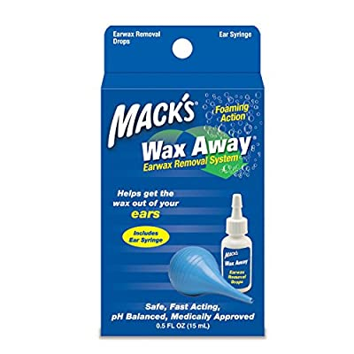 Mack's ProRinse Earwax drops,Syringe, Removal System