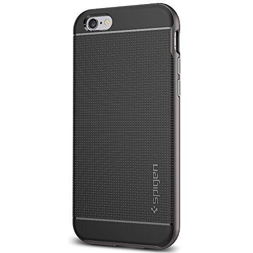 Spigen Neo Hybrid iPhone 6S Case / iPhone 6 Case with Flexible Inner TPU and Reinforced Hard Bumper Frame for Apple iPhone 6S / iPhone 6 - Gunmetal