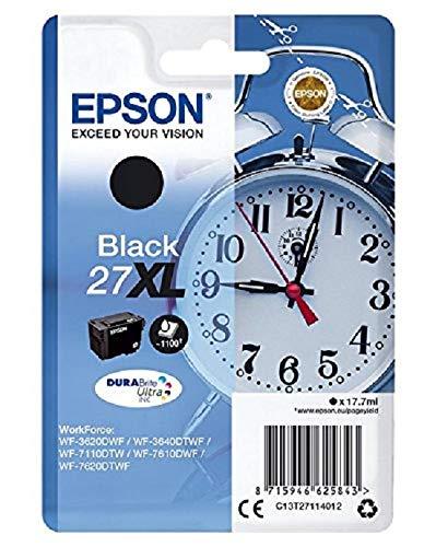 Epson 27 Serie Sveglia, Cartuccia originale getto d'inchiostro DURABrite Ultra, Formato XL, Nero