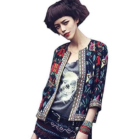 Fortan Cappotto del rivestimento donna pro floreale Outwear Parka Trench