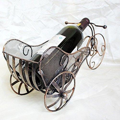 Wkaijc Dreirad Kreative Rotwein Rack Runde Korb Typ Persönlichkeit Einfache Ornamente Weinregale