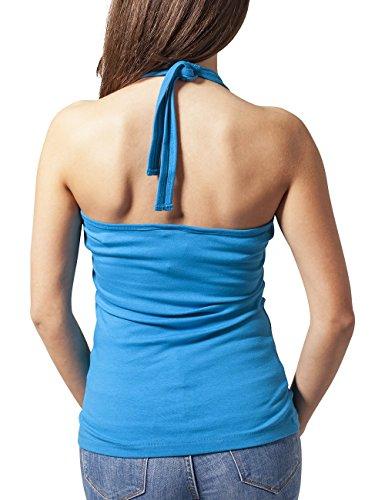 Urban Classics Ladies Neckholder Shirt, Débardeur Femme Turquoise - Türkis (turquoise 217)