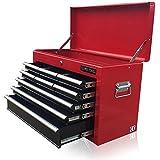 US PRO TOOLS asequible Rojo Negro Pecho Caja De Herramientas armario de herramientas cajón 9rodamientos de bola cajones