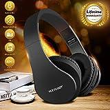 Cascos Bluetooth Inalambricos,Over Ear Auriculares Bluetooth Plegable con Micrófono Auriculares Inalámbricos Bluetooth para Smartphone,Tablet, PC, TV