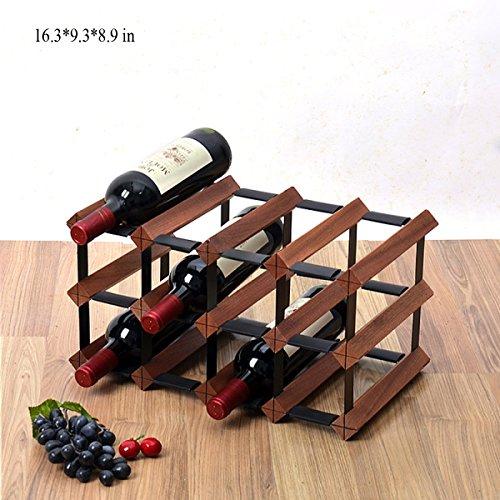 Tao Weinregal Dekoration Flaschenregal Europäischen kreative Hause Wohnzimmer Display Regal Wein Holz Gitter Regal (Farbe : C) - Kunststoff-utensil Display