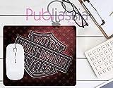 Publiassia Stamperia Harley Davidson 3 Mousepad Tappetino per Mouse Moto Idea Regalo Motor Motorcyclist Computer Tastiera Ufficio Gadget Lavoro Nerd Accessori pc Biker Accessori Moto Motociclisti