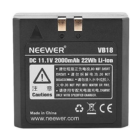Neewer® VB-18 Batterie Pile 2000mAh 11.1V Polymère Li-ion pour Flash Speedlite TT850 TT860 Godox V860 V850