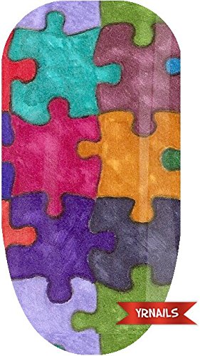 Colourful Jigsaw - Nail Wraps by YRNails