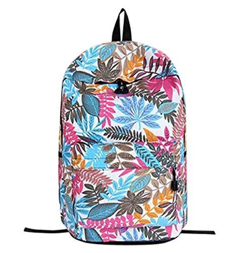 Fendi Canvas Brieftasche (Hot!! Klassische Unisex Schulrucksack,Mode Canvas Baumwolle Freizeit Drucken Multi-Pocket-Rucksack antidiebstahl Sporttaschen Schulranzen TWBB)