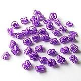 Alphabet Nummer Ausstechformen 40PCS Buchstabe Kuchenform Fondant Werkzeuge