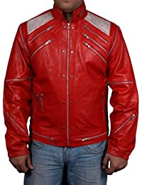 Mens faux leather jacket=MICHAEL JACKSON BEAT IT ORIGINAL= Available sizes, XS-5xl,